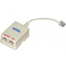 Filtro de linha ADSL com 2 saídas