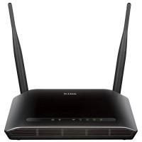 Roteador e Repetidor Wifi 300mbps 2 antenas Dlink DSL-2740E